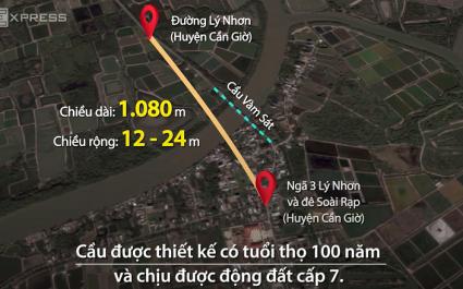 Xây cầu Vàm Sát 2 nối Cần Giờ với trung tâm TP HCM
