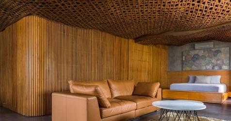 Khám phá căn hộ có trần gỗ mềm mại như đám mây tại Sài Gòn
