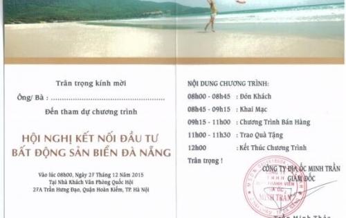 Minh Trần Real mở bán dự án Dana Beach – Sơn Trà Ocean View đất biển đẹp nhất Đà Nẵng