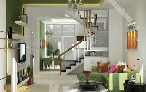 Nhà phường Phú Hữu, Quận 9 nhà mới xây trệt, 2 lầu, 4PN, 3WC giáp Quận 2