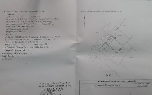 Nhà diện tích 5m x 9m đường Lê Đức Thọ - Gò Vấp -