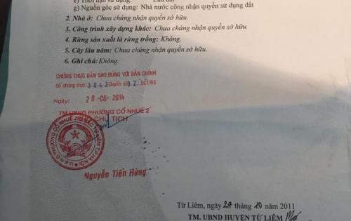 Bán nhà số 1 ngõ 487 Cổ Nhuế Bắc Từ Liêm