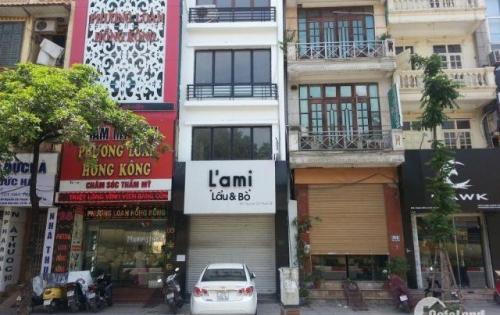 Cho thuê nhà mặt phố Thái Hà  90m2 mt 4.8m 73tr/th 0969234638