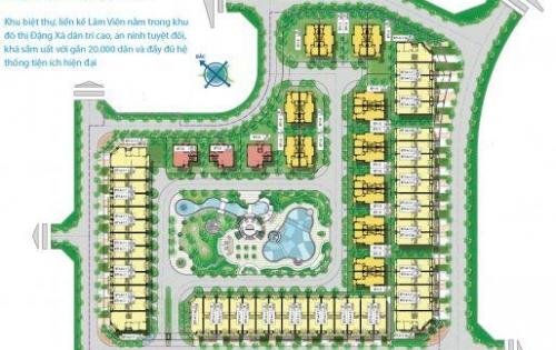 Chính chủ cần cho thuê biệt thự đơn lập khu Lâm Viên- KĐT Đặng Xá, Gia Lâm, Hà Nội.