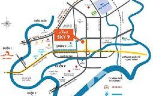 Cho thuê dài hạn 02 căn shop - house dự án Sky 9, chủ đầu tư N.H.O Khang Việt shop - house Sky 9 tọa lạc  Q9 Gía 16 triệu/tháng