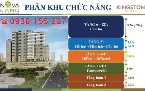 Chính chủ cho thuê gấp CH Kingston Residence 1-3 PN giá tốt, LH PKD CĐT 0938.155.227
