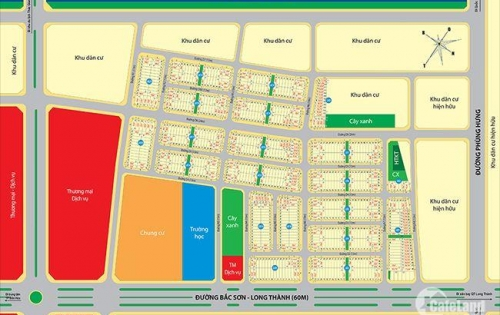 Golden Center City 3 mặt tiền đường 60m, hướng vào sân bay quốc tế. Chỉ 5,8tr/m2