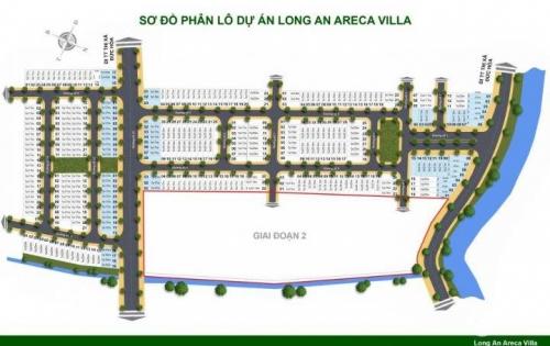 Duy nhất 3 nền mặt tiền còn lại dự án Areca villa Đức Hoà, Long An. giá gốc của chủ đầu tư