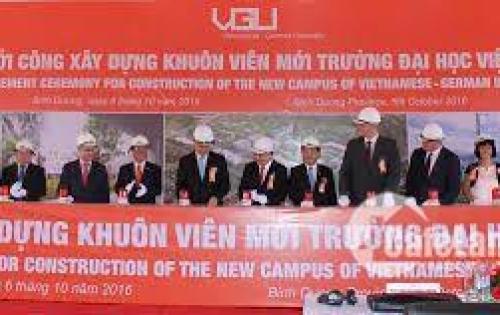 Về Sgon mở rộng thị trường bán gấp 300m2 đất  khu đô thị mới Bduong, sát Dh Việt Đức giá chỉ 750tr