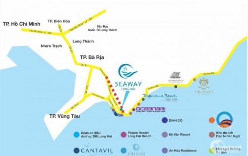 đất nền long hải vũng tàu giá 11tr/m2 dự án seaway