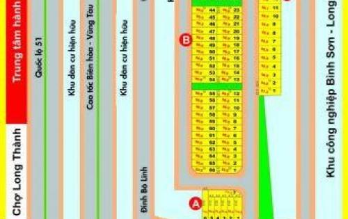 Đất thị trấn Long thành, giá 550tr/nền, hạ tầng hoàn thiện, hotline CĐT: 0962 030 274