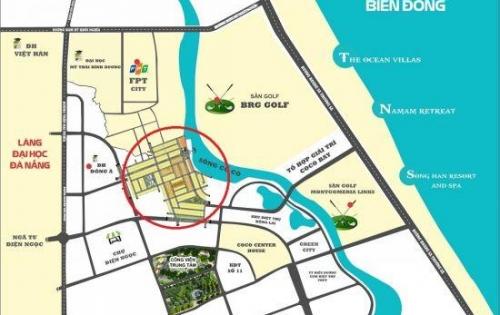 Bán đất nền nam Đà Nẵng thuộc khu đô thị số 4 ven sông Cổ Cò, liền kề FPT, Cocobay