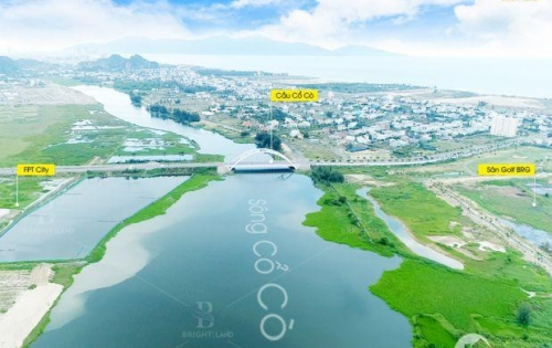 Bán rẻ lô biệt thự hướng Đông Nam ven sông Cổ Cò, giá đầu tư
