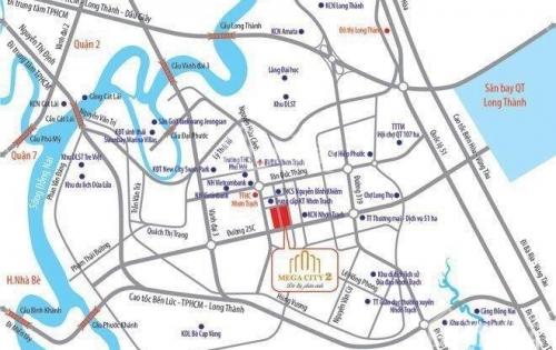 Mega city 2 - đất nền trung tâm Nhơn Trạch, MB những vị trí đẹp, giá  chỉ 6 tr/m2, tặng 10 chỉ vàng - LH 0902885808