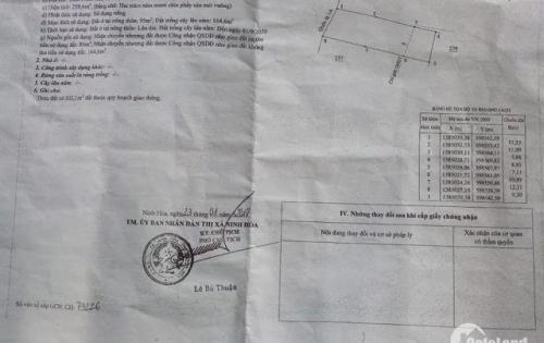 Đất mặt tiền [9,2m] quốc lộ 1A tại ngã 3 Dốc Lếch - tx.Ninh Hòa