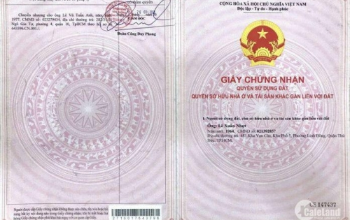 Đất rẻ sổ đỏ quận 2 ngay trung tâm đường Nguyễn Duy Trinh khu dân cư náo nhiệt.Giá hot chỉ 50tr/m2