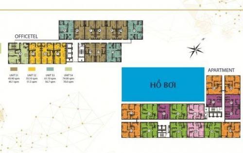Bán officetel Centana Thủ thiêm, chỉ 1,56 tỷ có VAT, rẻ hơn dự án liền kề 130 triệu