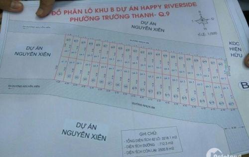Cần bán đất phân lô KDC mặt tiền Nguyễn Xiển