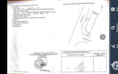 tìm chủ mới cho lô đất 164m2, 2 mặt tiền đường Đinh Thị Hòa và An Đồn 4, Sơn Trà, Đà Nẵng