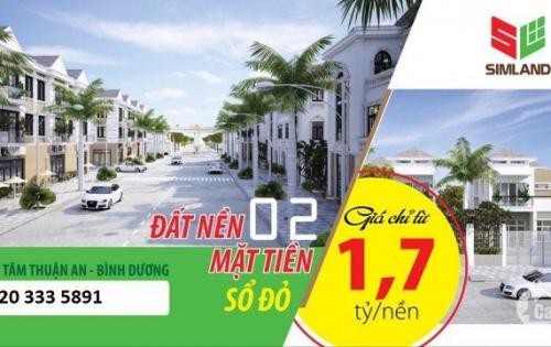 Dự án đất nền Thuận An , Bình Dương .2 Mặt tiền đường ĐT 743 , Phan Đình GIót . Lh : 01203335891