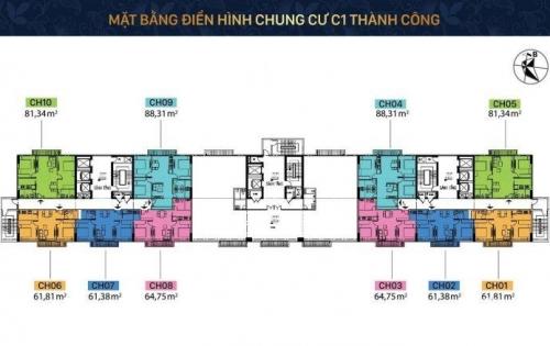 Chính chủ căn hộ 902 tại C1 Thành Công, giá rẻ chỉ 2,5 tỷ đồng.