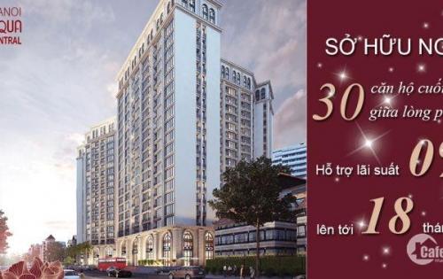 Chiết khấu hấp dẫn lên đến 8% khi mua chung cư cao cấp Hà Nội Aqua Central 44 Yên Phụ.0987155226