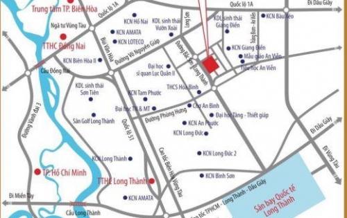 Đất nền đầu tư ngay mặt tiền đường Bắc Sơn Long Thành giá rẻ