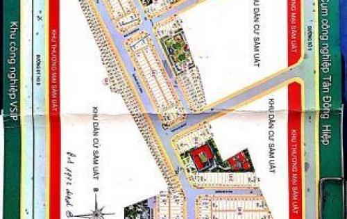 Nhà 1 lầu 2 mặt tiền DT100m2 đg DT743 dự án Dĩ An