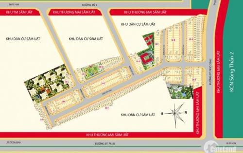 Dự án đất nền, nhà phố, phường tân đông hiệp,dĩ an,đ.DT743C