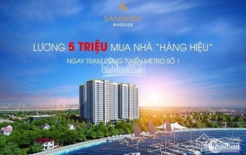 Sở hữu căn hộ Samsora Riverside nép bên sông Đồng Nai, chỉ 140tr. LH 0902.683.022