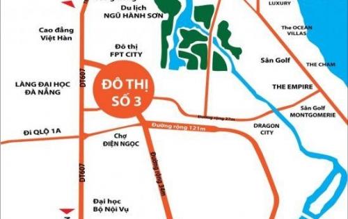HOT..Bán đất KĐT số 3, gần làng ĐH, ĐH Phan Chu Trinh giá đầu tư.LH: 0901528549