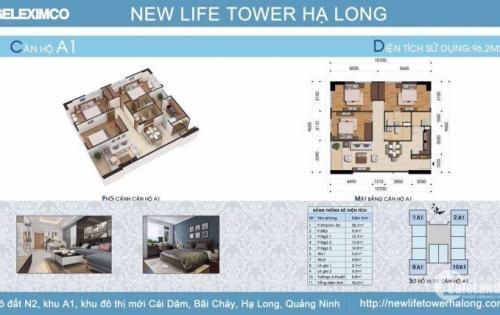 Bán Căn Hộ 96m2 View Đảo Rều Tòa A Newlife Tower Hạ Long ( Liên Hệ : 09.24.10.1993 )