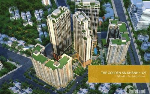 Bán lỗ CHCC The Golden An Khánh 32T: A-1606(66m2), B-1001(65,9m2) và C-1203 (92,2 m2), giá 820tr. LH 0902193188
