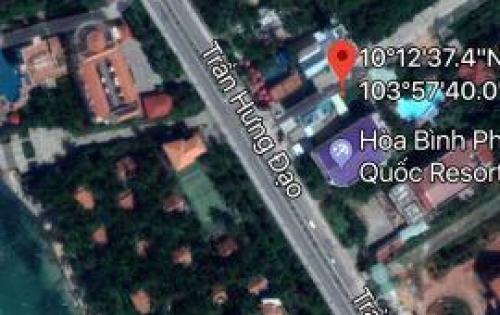 Chính chủ bán đất mặt tiền đường Trần Hưng Đạo gần Hòa Bình Resort Phú Quốc