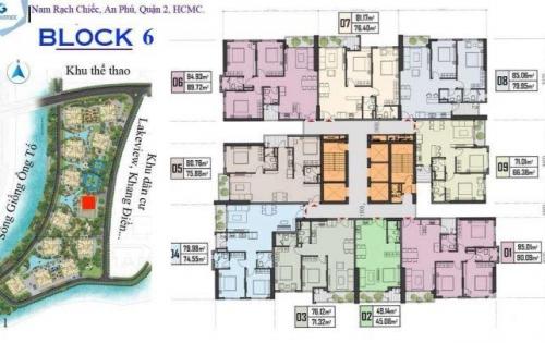 ĐẤT XANH GROUP CÔNG BỐ BLOCK 6,8 GEM RIVERSIDE Q2.DT 76M2