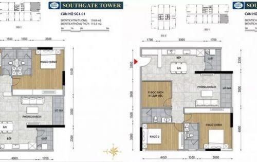Nhận giữ chỗ Ưu tiên 1 South Gate Tower Hồng Hà, Q.7, 35tr/m2 (đã có VAT)