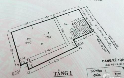 Bán nhà cấp 3 hẻm 124 Phạm Thế Hiển phường 2 quận 8