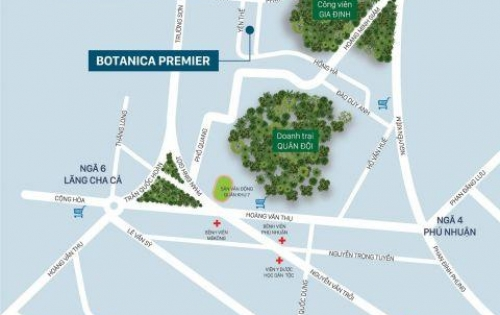 Bán căn hộ 3 phòng ngủ, Botanica Premier, 92m2,góc, view Hồng Hà, giá 3,8 tỷ