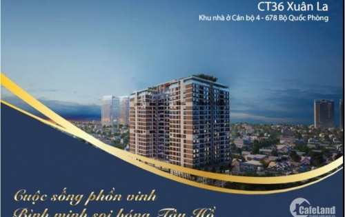 Bán chung cư 99m2 dự án CT36 Xuân La, giá 35tr/m2. View Hồ Tây