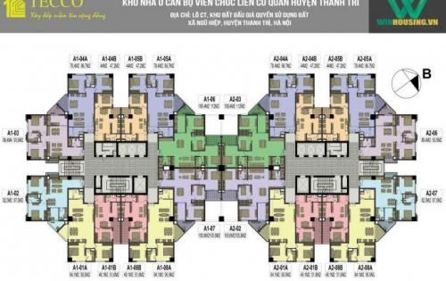 Chính chủ bán cắt lỗ căn góc 2 ngủ - Tecco Thanh Trì -16tr/m2