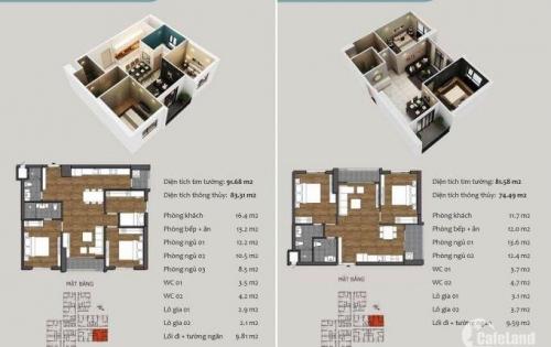 Bán căn hộ góc 3PN, giá 1,7 tỷ tại Hồng Hà Eco City, Tứ Hiệp–Thanh Trì