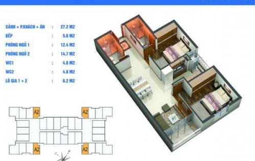 Chính chủ bán gấp căn góc 75,5m2 giá 29tr/m2 tại cc Golden West – số 2 Lê Văn Thiêm.