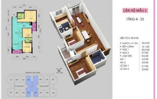 Cần tiền cho con đi du học bán gấp căn Handi Resco 89 Lê Văn Lương, 99.8m2, 3 ngủ, 2vệ sinh 0934634268