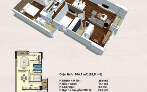 Sở hữu căn hộ rộng 99.8m2 Handi Resco Lê Văn Lương 3 ngủ giá rẻ chỉ từ 32.5tr/m2  0934634268