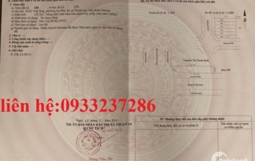 Bán MT D33,KDC Việt Sing,6 lô góc liền kề,sổ riêng,Thuận An,BD