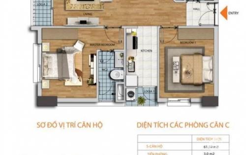 Chính chủ cần bán căn hộ chung cư HD Mon City, DT: 61,5m2, giá 28tr/m2. LH : 0967317880