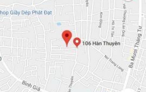 Tôi cần bán nhà trọ hẻm nhựa 5m đường Hàn Thuyên, P10, thành phố Vũng Tàu. DT: 5x18m =90m2. Giá: 1 tỷ 750 triệu TL.