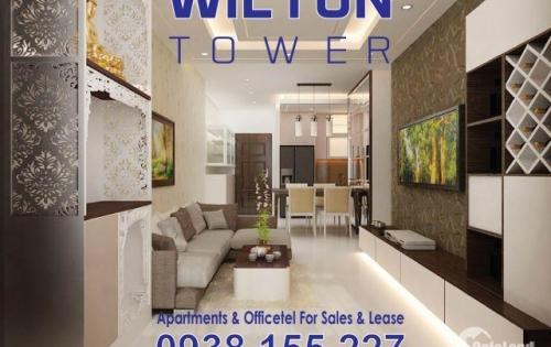 Cho thuê CH Wilton Tower 3 PN, DT 93 m2, căn góc, tầng cao thoáng mát, LH 0938.155227