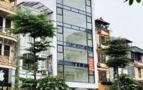 Cho thuê nhà mặt phố Trần Kim Xuyến, 100m2 x 5T, MT 18m. Giá thuê 90tr/th. LH 01629084485