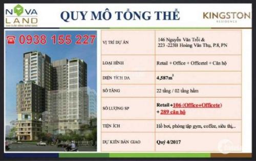 Cho thuê gấp CH Kingston Residence 2 PN, chỉ 23 triệu/tháng, view sân bay, LH 0938155227